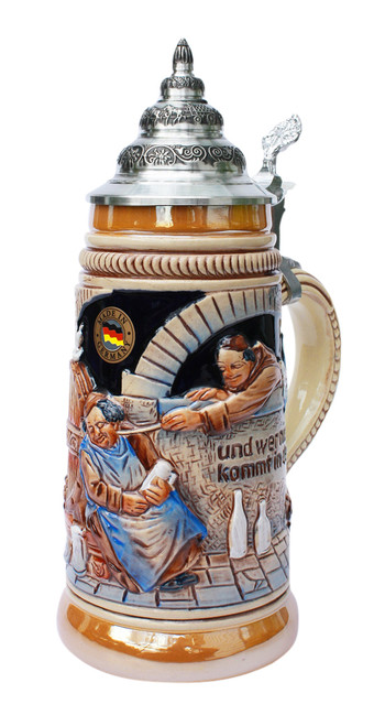 Drink Beer and Go To Heaven Beer Stein