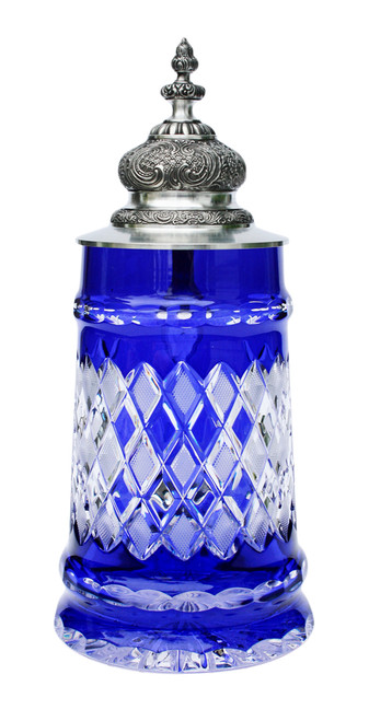 Lord of Crystal Beer Stein Blue