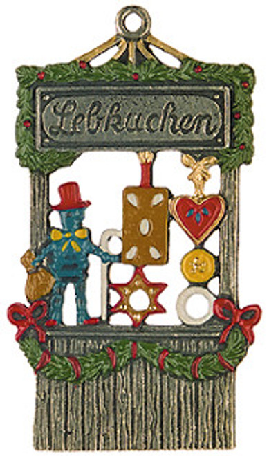 Hand-painted German Gingerbread Stand Christmas Ornament