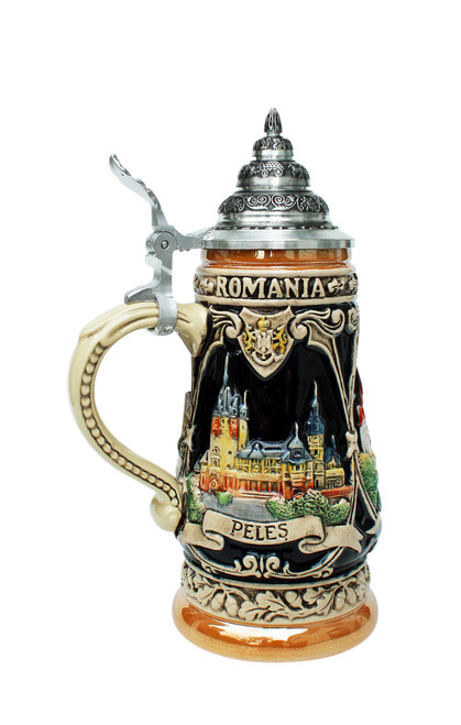 German Beer Stein Depicts Romania & Vlad the Impaler