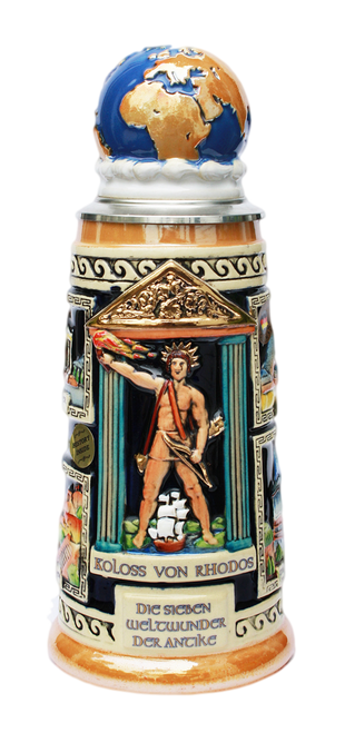 Seven Wonders of the Ancient World Beer Stein