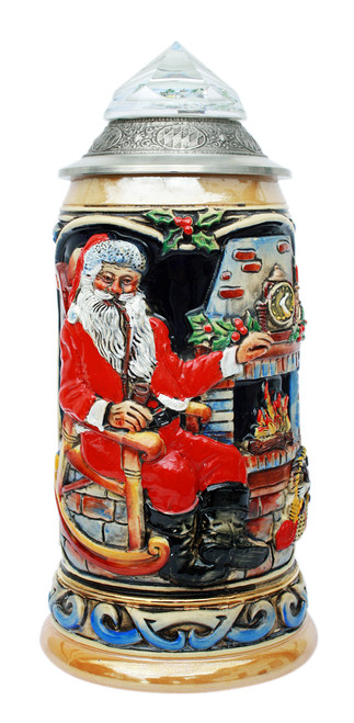 Santa Clause Beer Stein for Christmas Parties