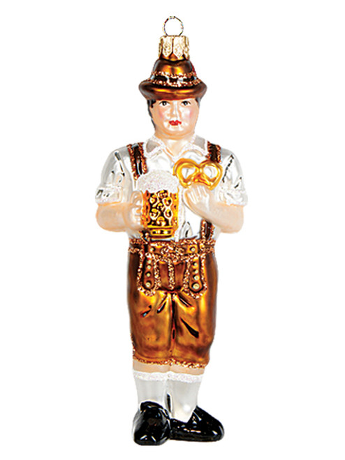 Oktoberfest Traditional German Glass Christmas Ornament