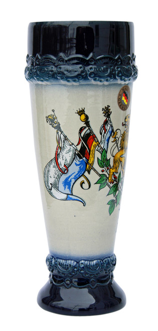 .5 Liter Ceramic Wheat Beer Cup with German Flags