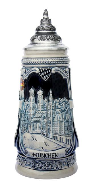 Portraits of Munich Beer Stein | Cobalt