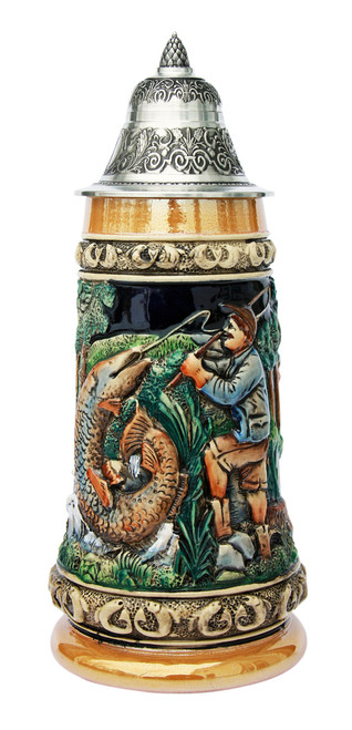 Fishing Beer Stein