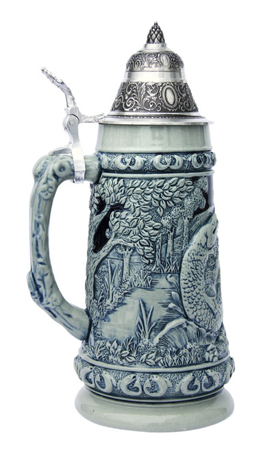 Fishing Beer Stein Cobalt