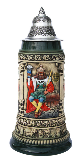 Gambrinus The Beer King Stein Hand Painted