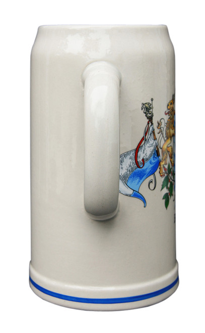 Oktoberfest Stone Beer Mug with Two Handles