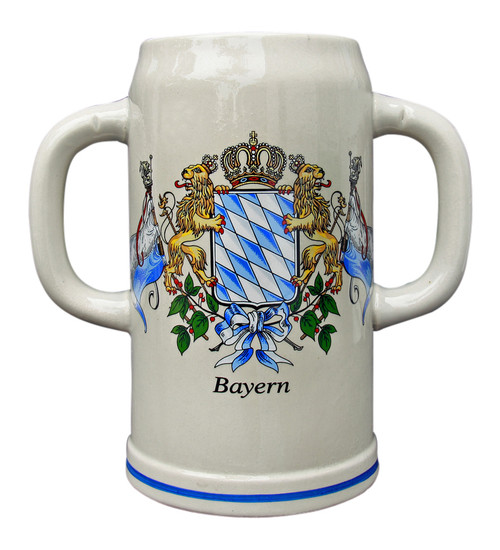 Double Handle Oktoberfest Ceramic Beer Mug