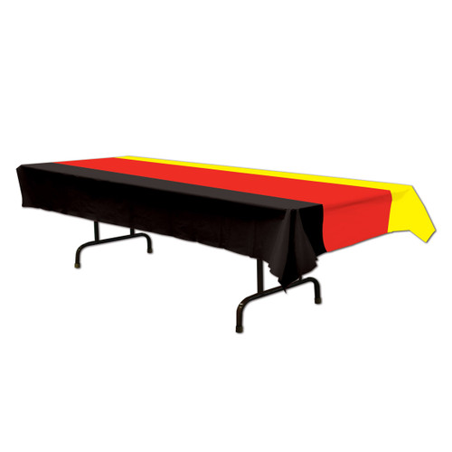 German Party Plastic Table Cover, Large