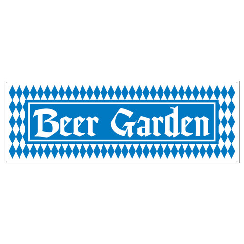 Beer Garden All Weather Party Banner