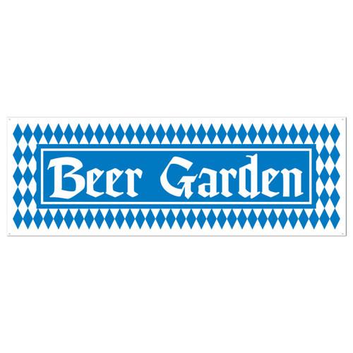 Beer Garden All Weather Party Banner