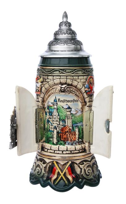 Window to Neuschwanstein Castle Deutschland Beer Stein