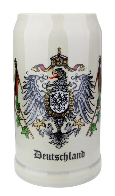 Deutschland Eagle Crest 1 Liter Stoneware Mug