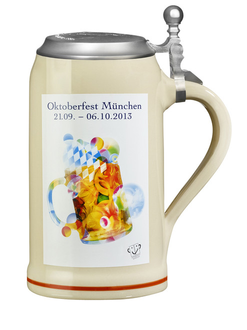 Official Oktoberfest 2013 Beer Mug with Lid