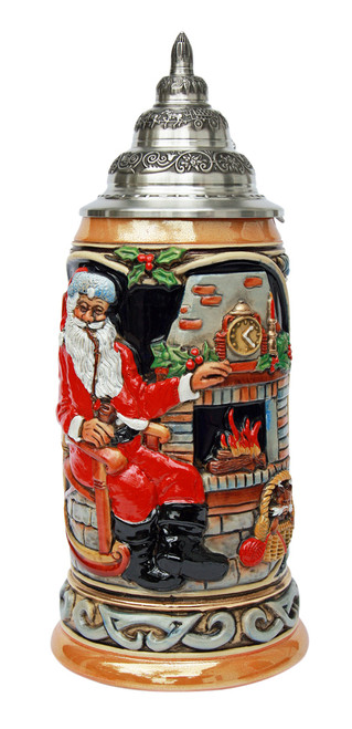 Authentic Handpainted Ceramic Beer Stein