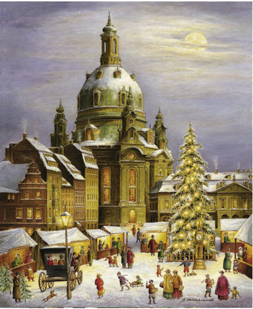 Christmas Market in Desden German Advent Calendar