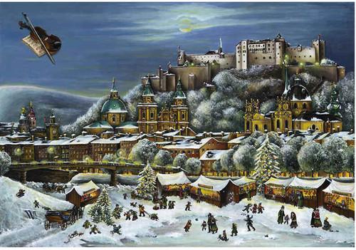 Salzburg Christmas Market German Advent Calendar