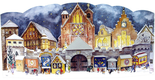 1947 Christmas Market 3D German Advent Calendar