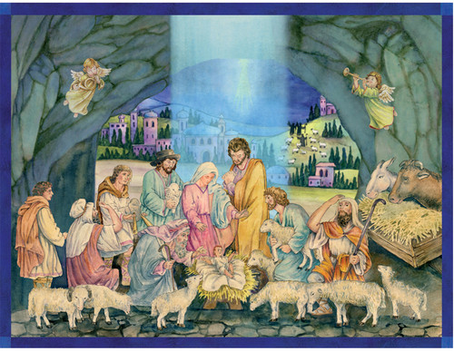 Birth of Christ Manger Scene German Advent Calendar
