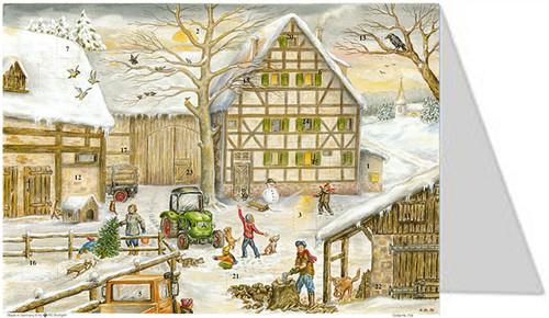Farm in Winter German Christmas