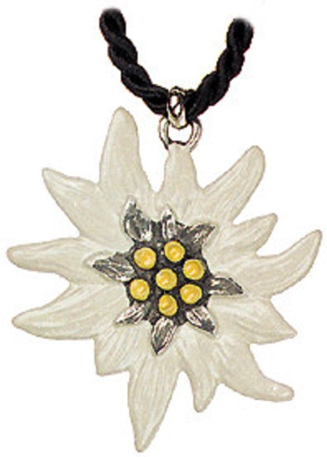Edelweiss German Pewter Necklace
