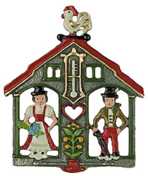 Traditional German Weatherhouse Pewter Christmas Ornament