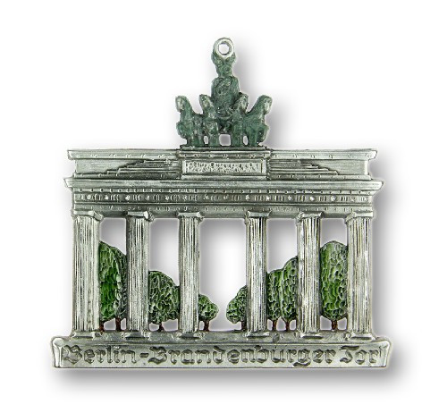 Berlin Brandenburg Gate Authentic German Glass Christmas Ornament