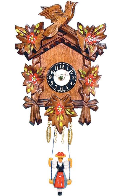 Leaf and Bird German Mini Clock | Musical