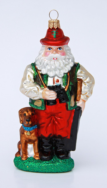 Bavarian Hunter Santa Christmas Ornament