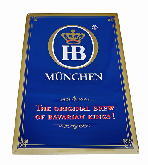 Hofbrauhaus HB Original Brew Metal Beer Sign