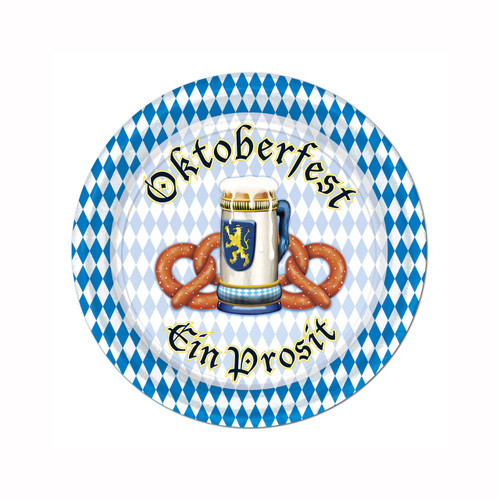 Oktoberfest Party 7in Cocktail Plate 8pk