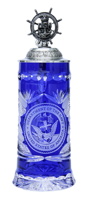 US Navy Lord of Crystal Beer Stein