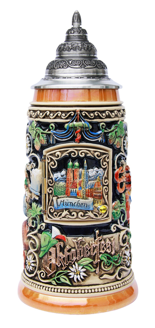 Window to Oktoberfest Munich Beer Stein