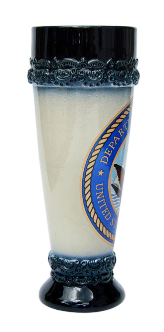 Wheat Beer Glass with US Navy Emblem