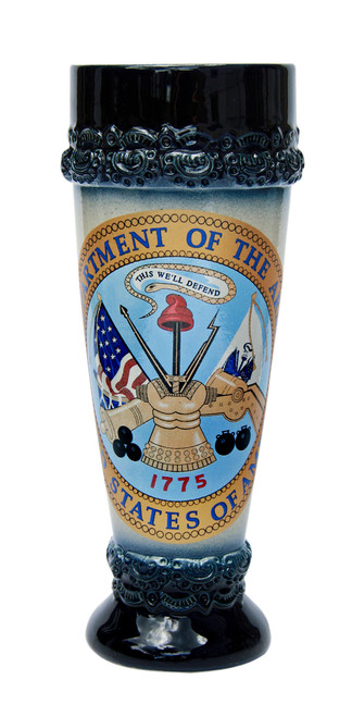 Wheat Beer Glass with US Army Emblem