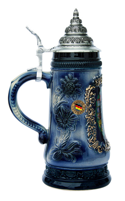 Deutschland Alpine Flowers Beer Stein