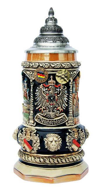 Deutschland Octagon Beer Stein | 0.4 Liter