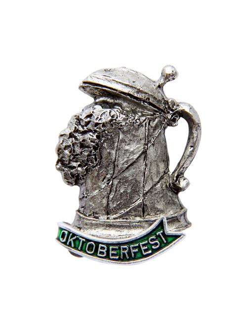 Oktoberfest Frothing Beer Stein German Hat Pin
