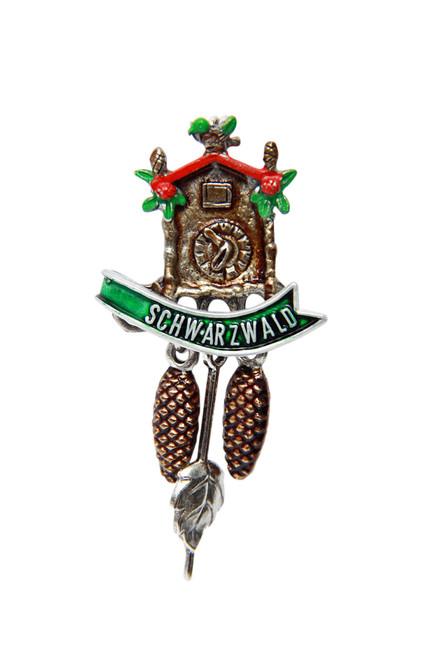 Schwarzwald Cuckoo Clock German Hat Pin