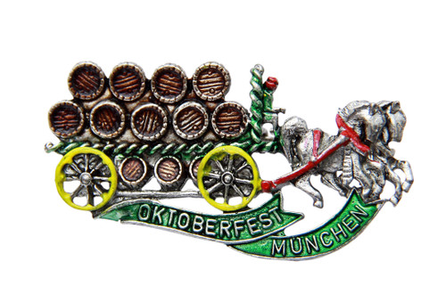 Oktoberfest Beerwagon German Hat Pin