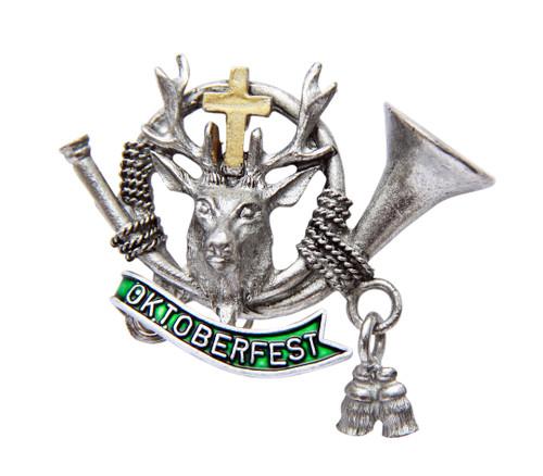 Oktoberfest Hunters Stag German Hat Pin