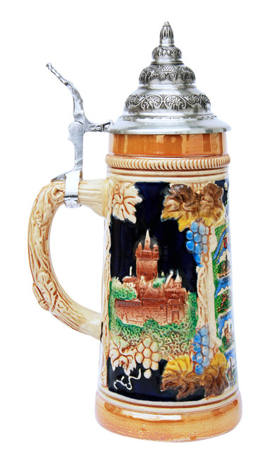 Rhein River Travel Destinations Beer Stein