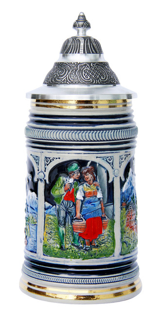 Tyrolean Couple 100th Anniversary Thewalt Beer Stein