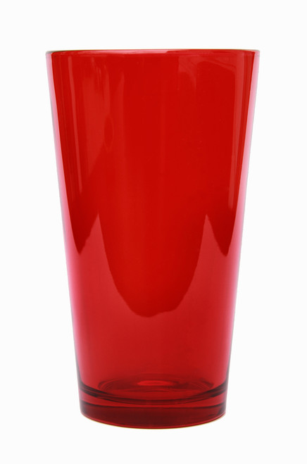 Red Pint Beer Glass