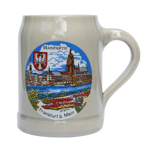 Frankfurt am Main Stoneware Beer Mug 0.5 Liter