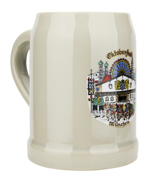 Oktoberfest German Stoneware Beer Mug 0.5 Liter