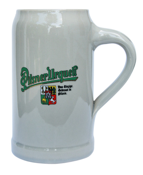 1 Liter Stoneware Beer Mug with Pilsner Urquell Logo