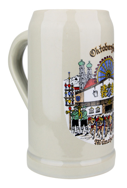Authentic German Ceramic Beer Mug 1 Liter
